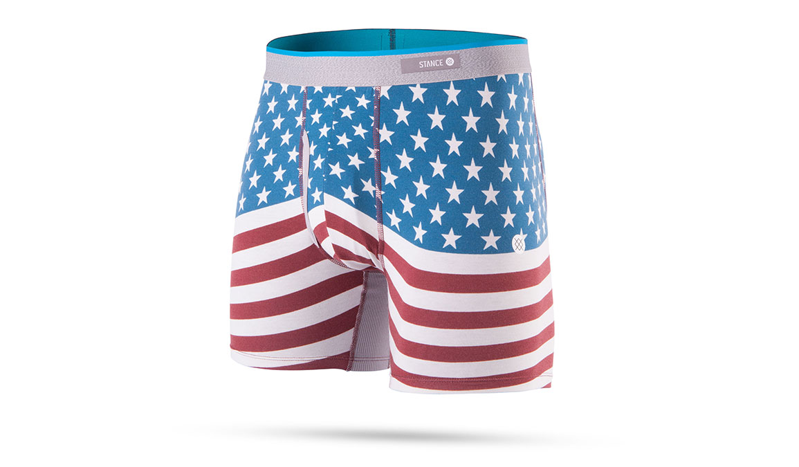 Men's Stance Bicentennial Boxer Brief - Color: Red Size: S, Red, large, image 1