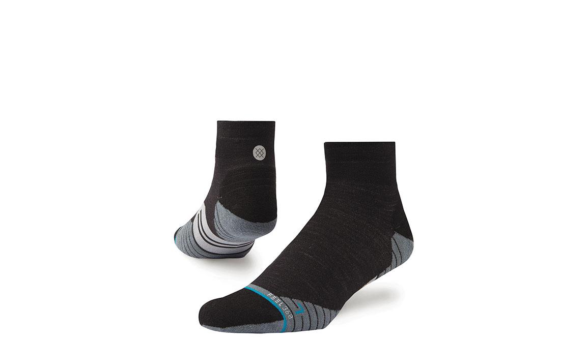 Men's Stance Performance Solids Wool QTR - Color: Black Size: L, Black, large, image 1