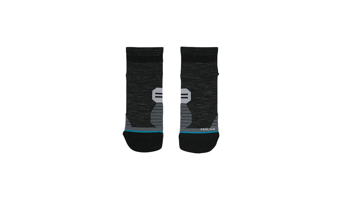 Men's Stance Performance Solids Wool QTR - Color: Black Size: L, Black, large, image 2