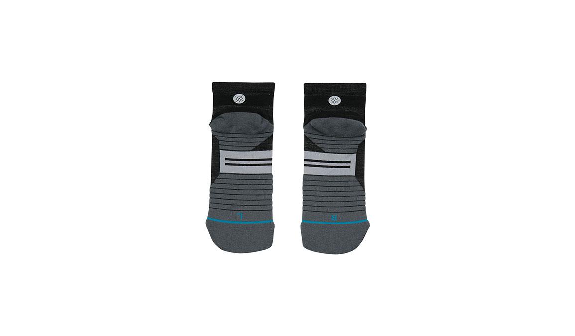 Men's Stance Performance Solids Wool QTR - Color: Black Size: L, Black, large, image 3
