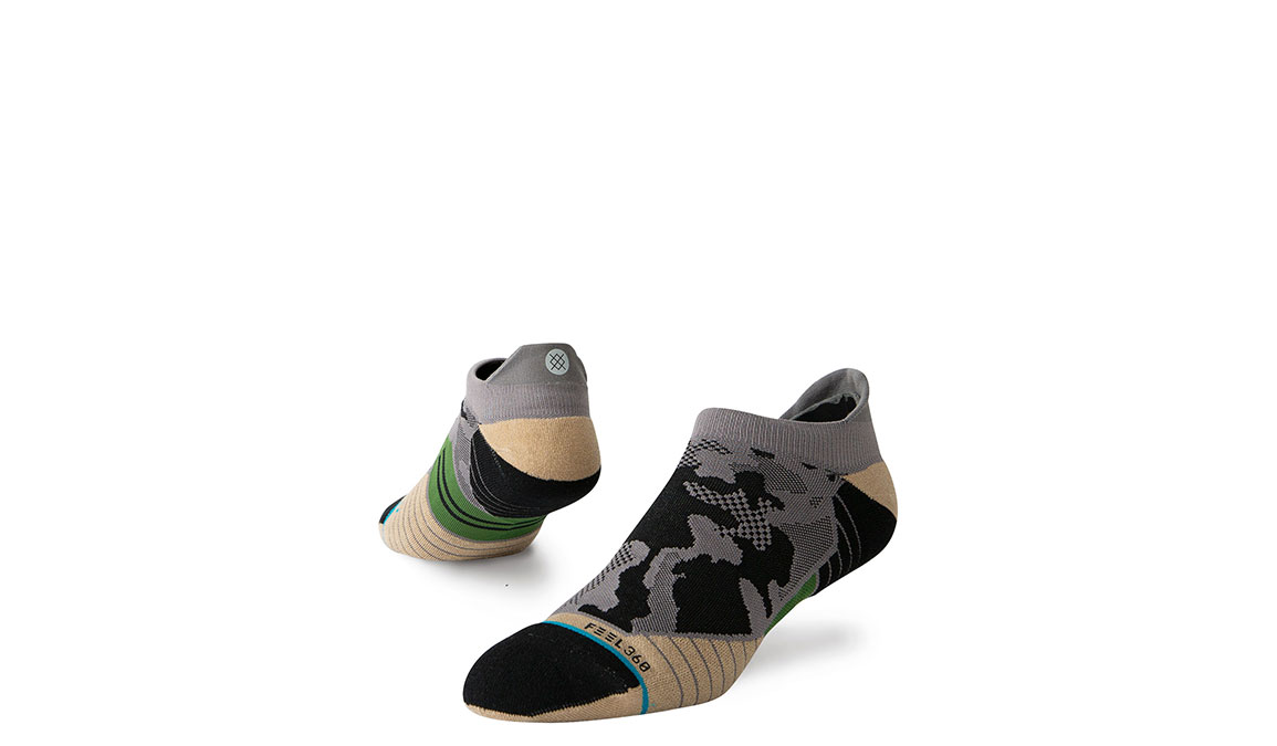 Men's Stance Smoked Camo Tab - Color: Grey Camo Size: M, Grey/Black, large, image 1