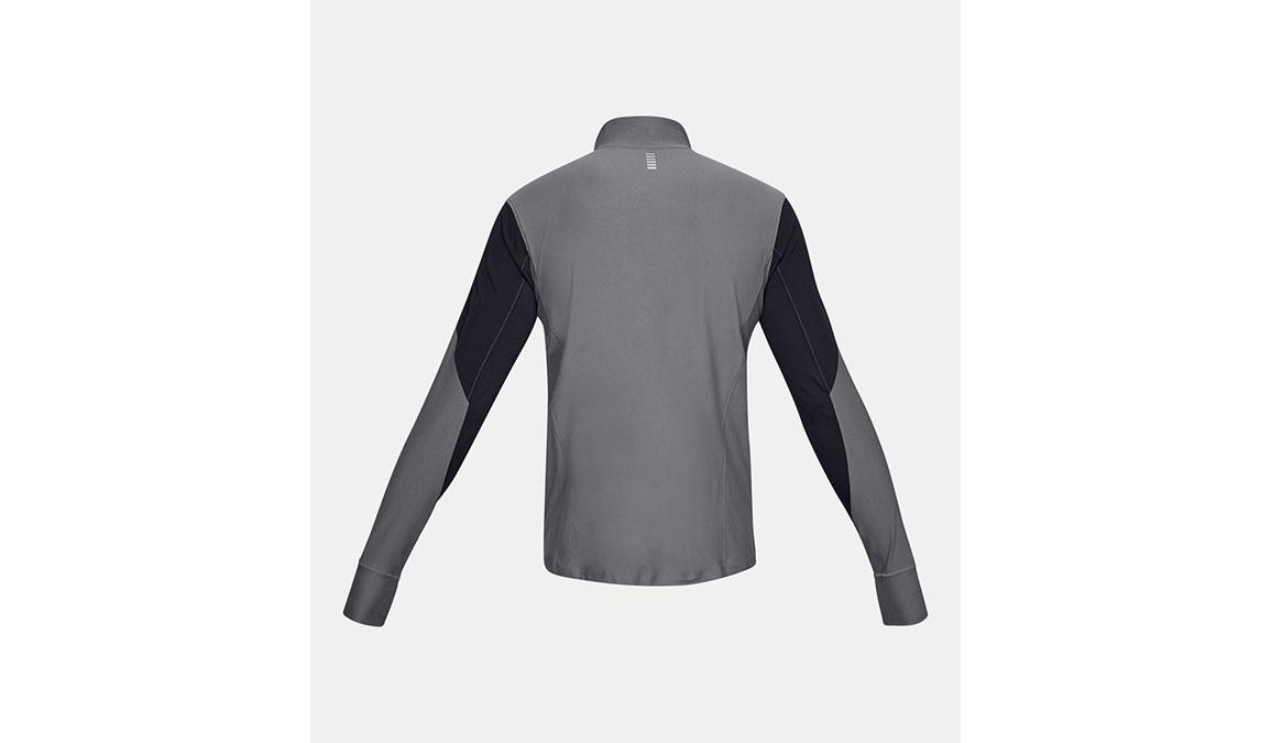 Men's Under Armour Qualifier Half Zip Long Sleeve Shirt - Color: Black/Pitch Grey Size: S, Black/Pitch Grey, large, image 6
