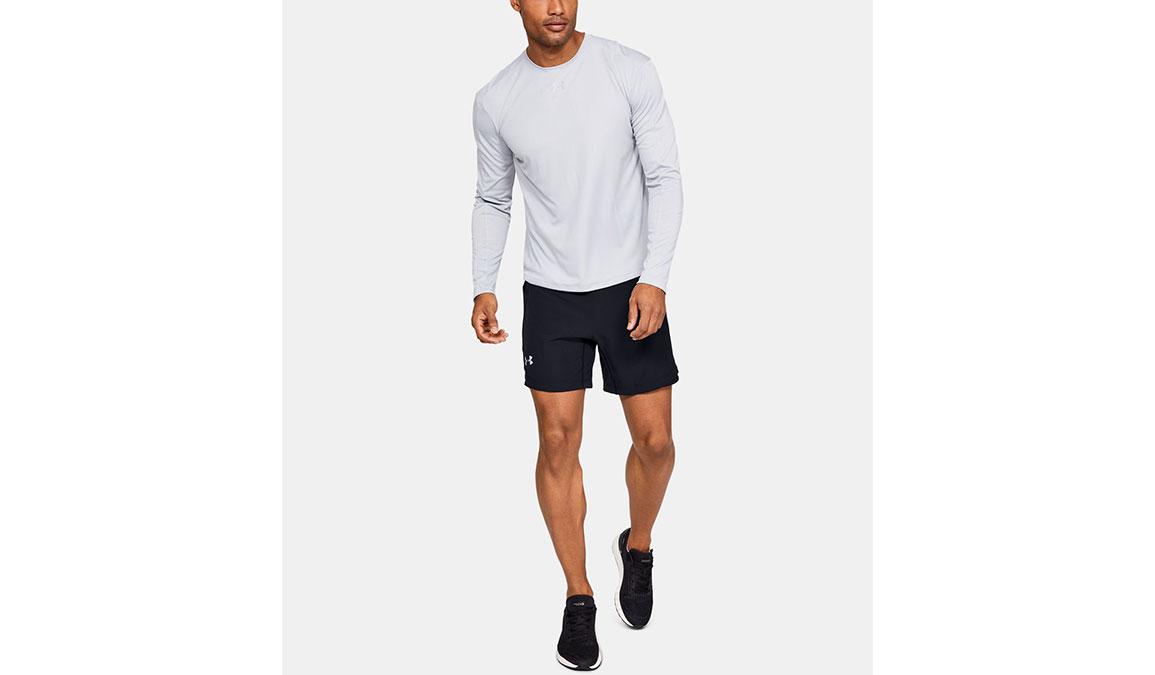 "Men's Under Armour Qualifier Speedpocket 7"" Shorts - Color: Black Size: S, Black, large, image 4"
