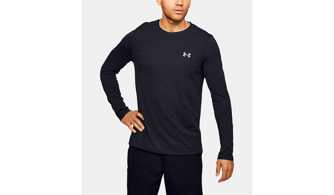 Men's Under Armour Seamless Long Sleeve - Color: Black Size: S, Black, large, image 1