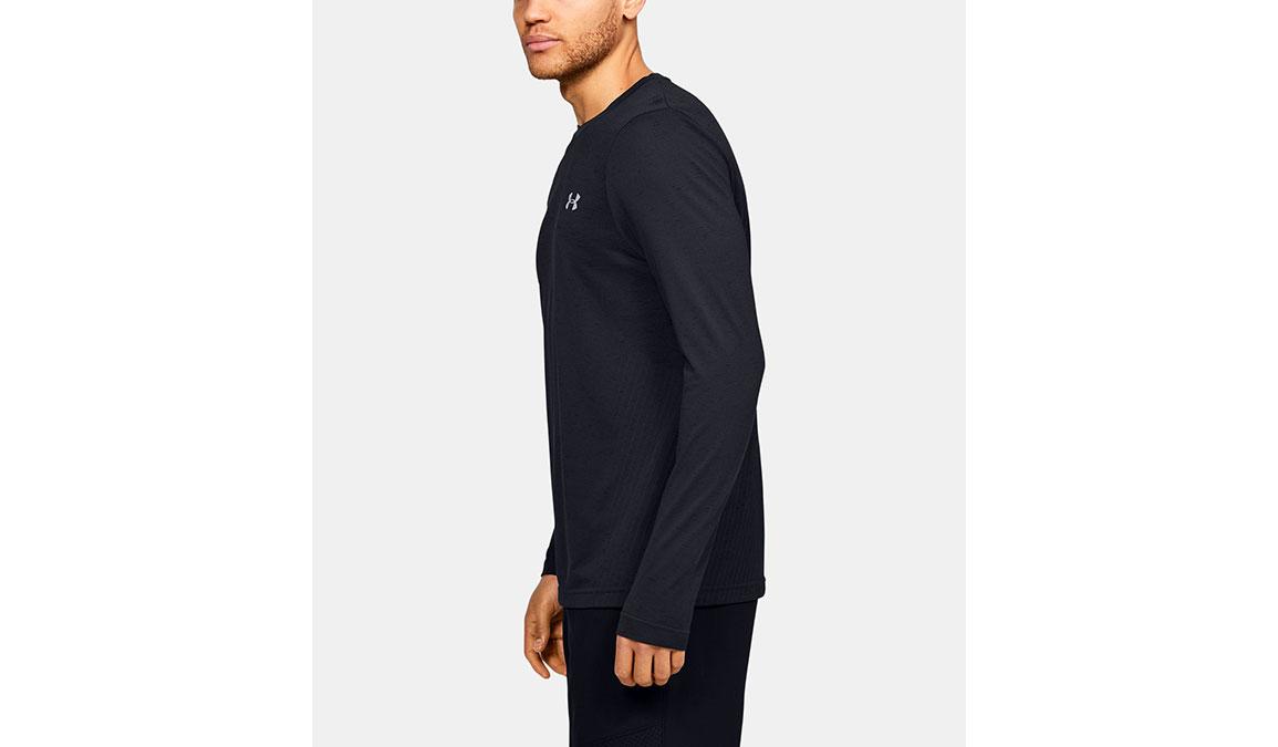 Men's Under Armour Seamless Long Sleeve - Color: Black Size: S, Black, large, image 2
