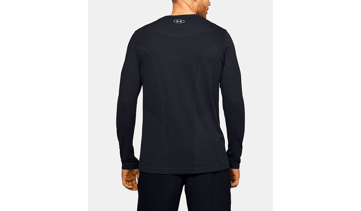 Men's Under Armour Seamless Long Sleeve - Color: Black Size: S, Black, large, image 3