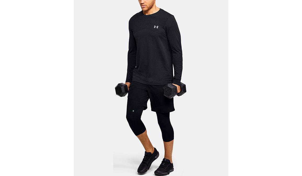 Men's Under Armour Seamless Long Sleeve - Color: Black Size: S, Black, large, image 4