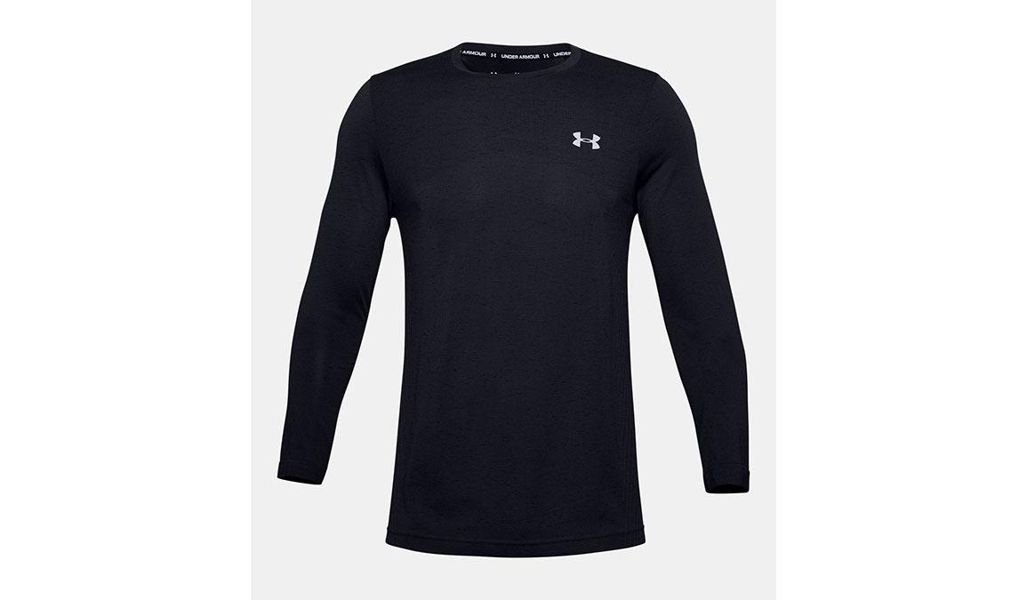 Men's Under Armour Seamless Long Sleeve - Color: Black Size: S, Black, large, image 5