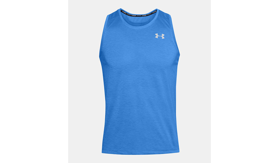 Men's Under Armour Streaker 2.0 Singlet Tank - Color: Water Size: S, Water, large, image 5