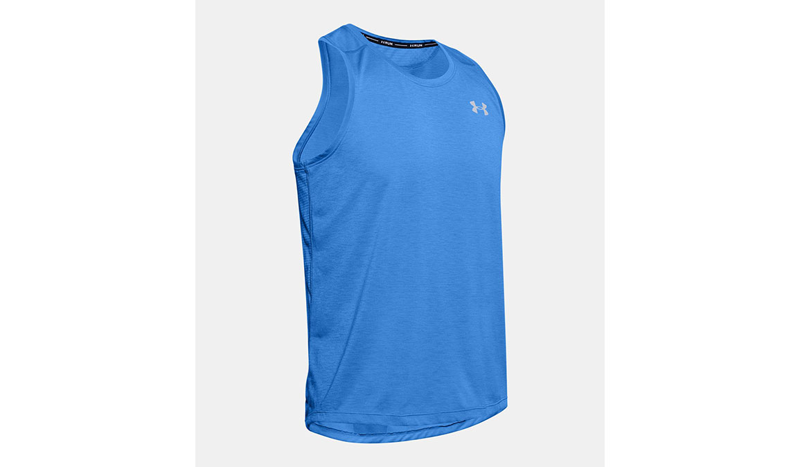 Men's Under Armour Streaker 2.0 Singlet Tank - Color: Water Size: S, Water, large, image 6