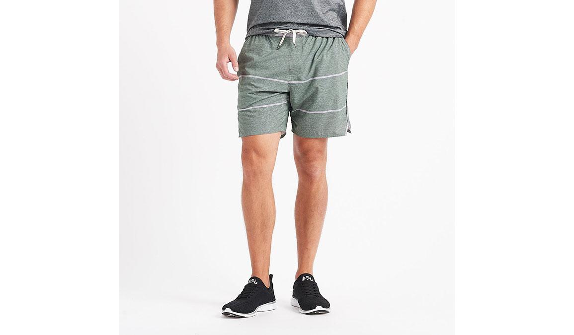 "Men's Vuori 7"" Trail Short - Color: Evergreen Heather Stripe Size: S, Evergreen Heather Stripe, large, image 1"