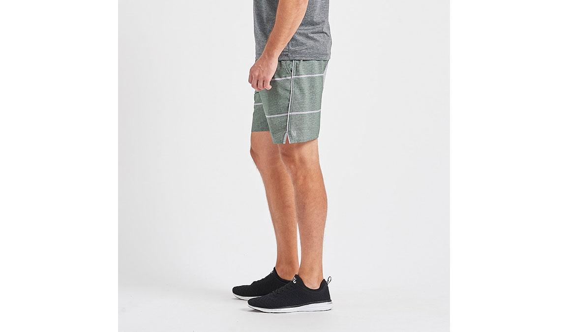 "Men's Vuori 7"" Trail Short - Color: Evergreen Heather Stripe Size: S, Evergreen Heather Stripe, large, image 2"