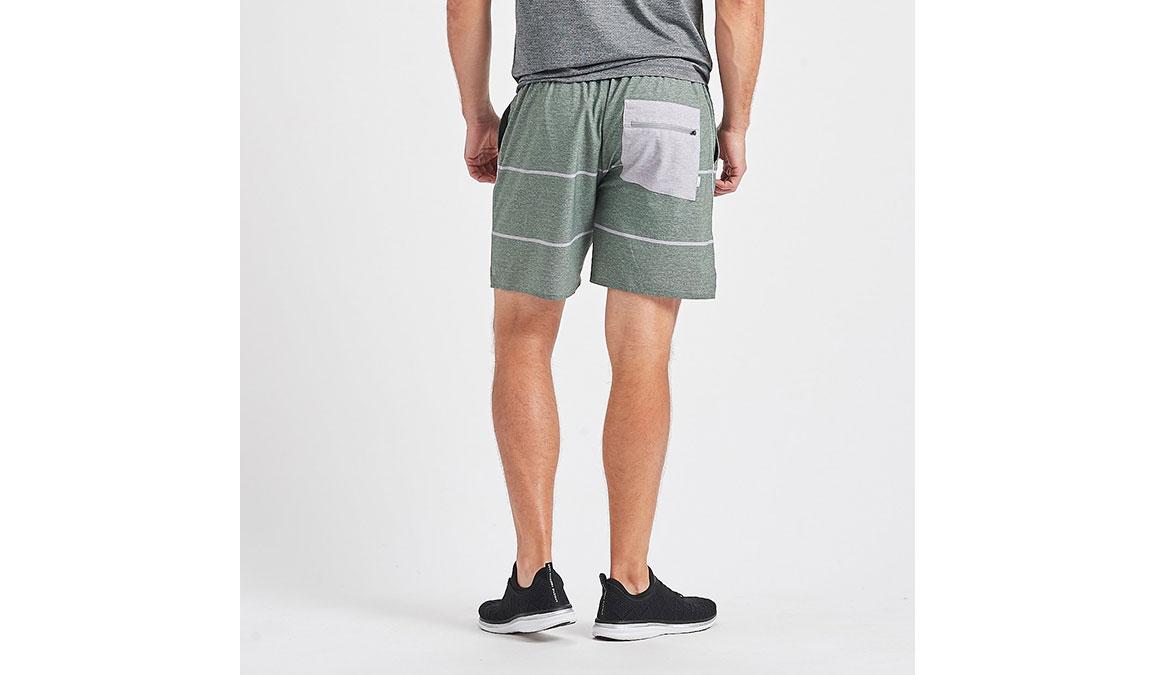 "Men's Vuori 7"" Trail Short - Color: Evergreen Heather Stripe Size: S, Evergreen Heather Stripe, large, image 3"