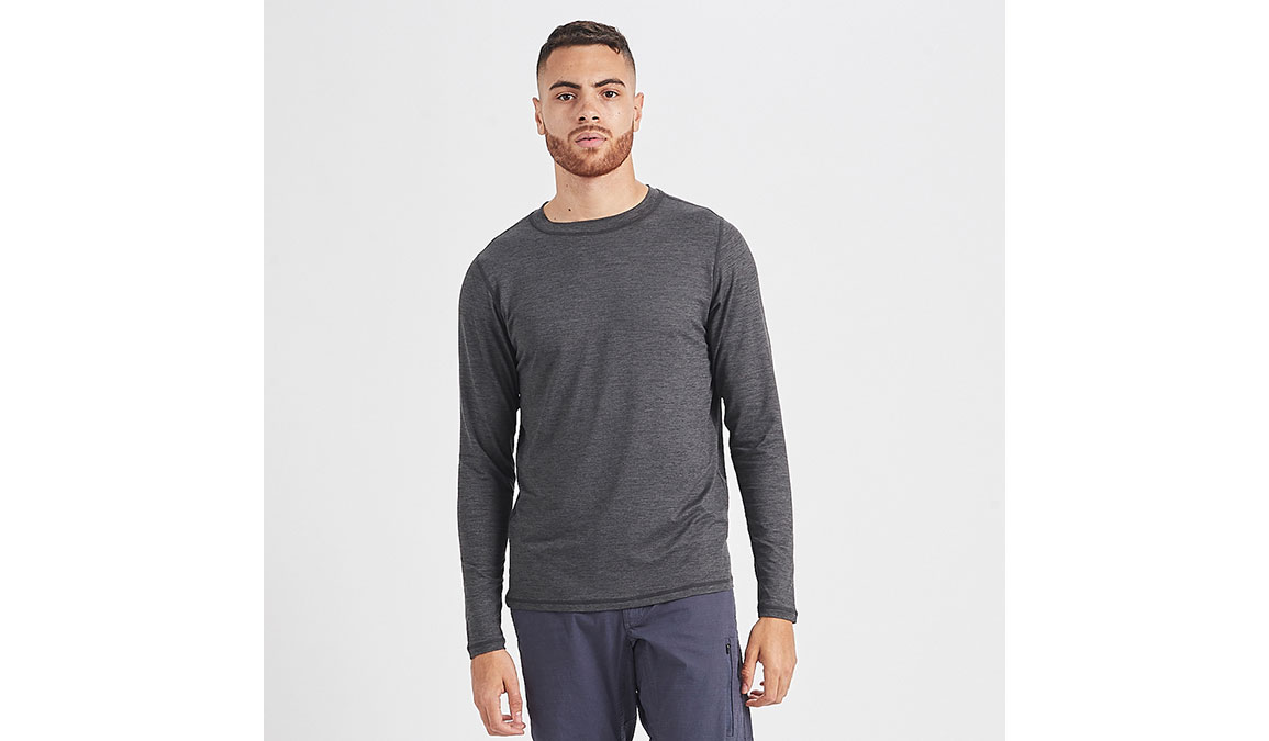 Men's Vuori Ease Crew Neck - Color: Charcoal Heather Size: S, Charcoal Heather, large, image 1