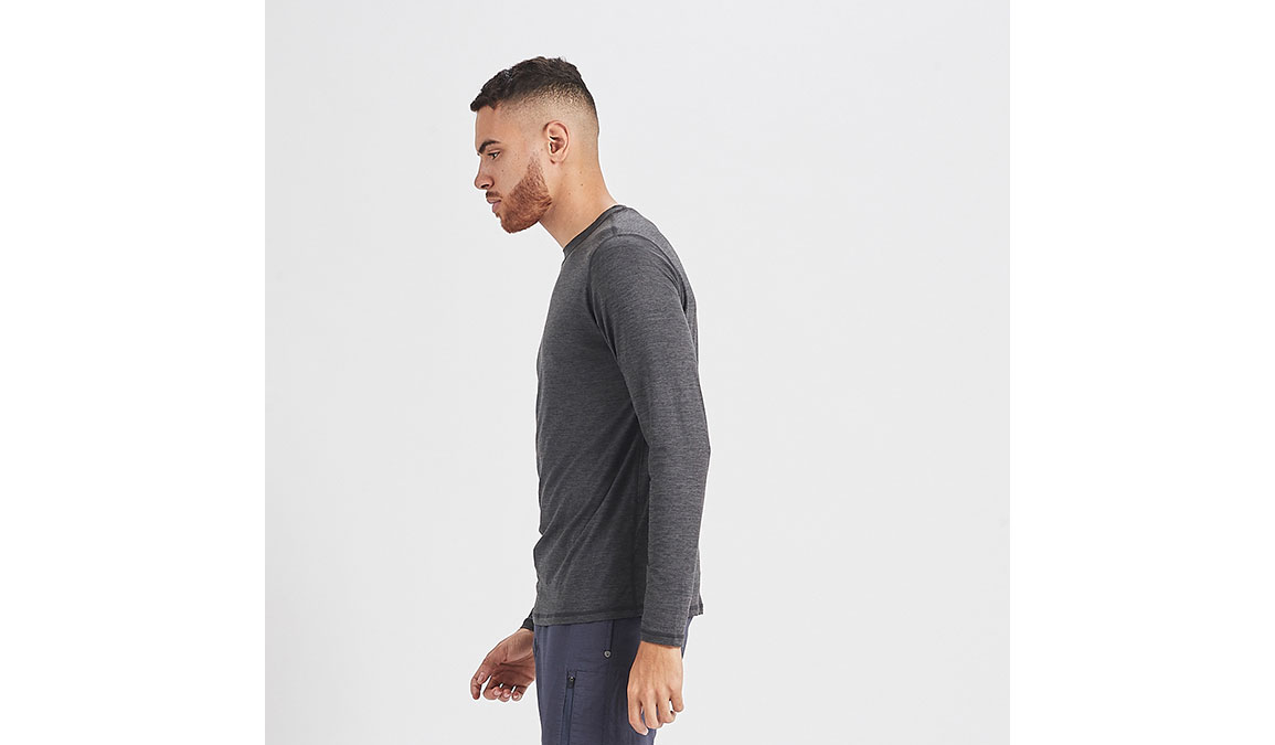 Men's Vuori Ease Crew Neck - Color: Charcoal Heather Size: S, Charcoal Heather, large, image 2