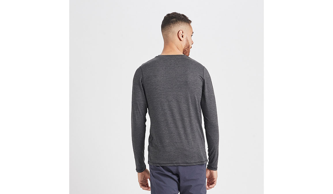 Men's Vuori Ease Crew Neck - Color: Charcoal Heather Size: S, Charcoal Heather, large, image 3