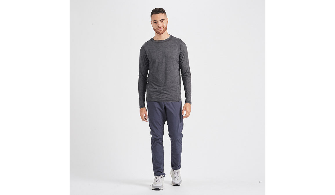 Men's Vuori Ease Crew Neck - Color: Charcoal Heather Size: S, Charcoal Heather, large, image 4