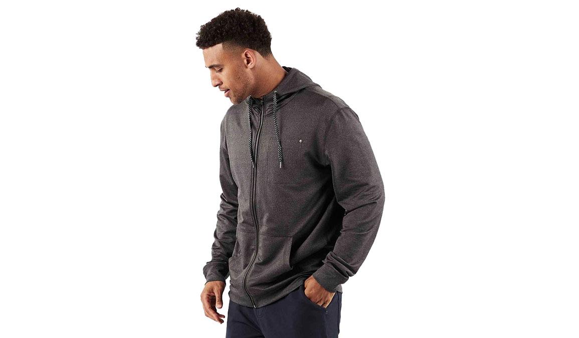 Men's Vuori Movement Hoodie - Color: Black Heather Size: L, Black Heather, large, image 1