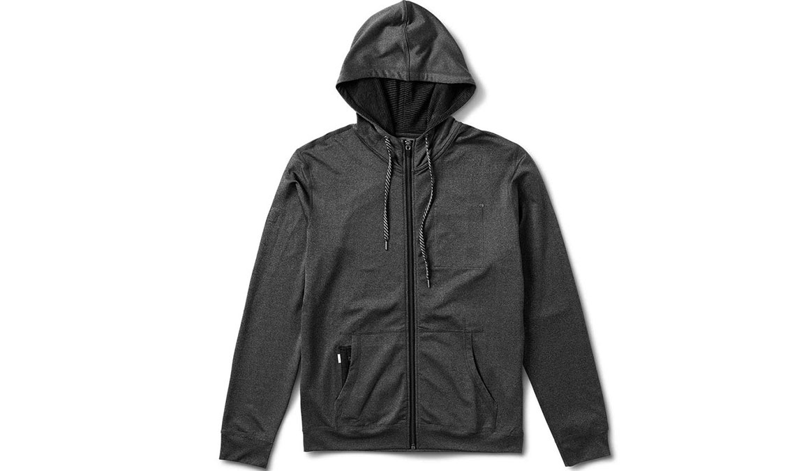 Men's Vuori Movement Hoodie - Color: Black Heather Size: L, Black Heather, large, image 4