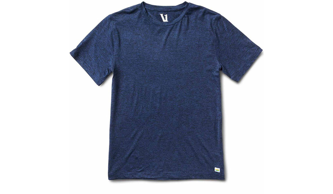 Men's Vuori Strato Tech Tee  - Color: Navy Size: S, Navy, large, image 3