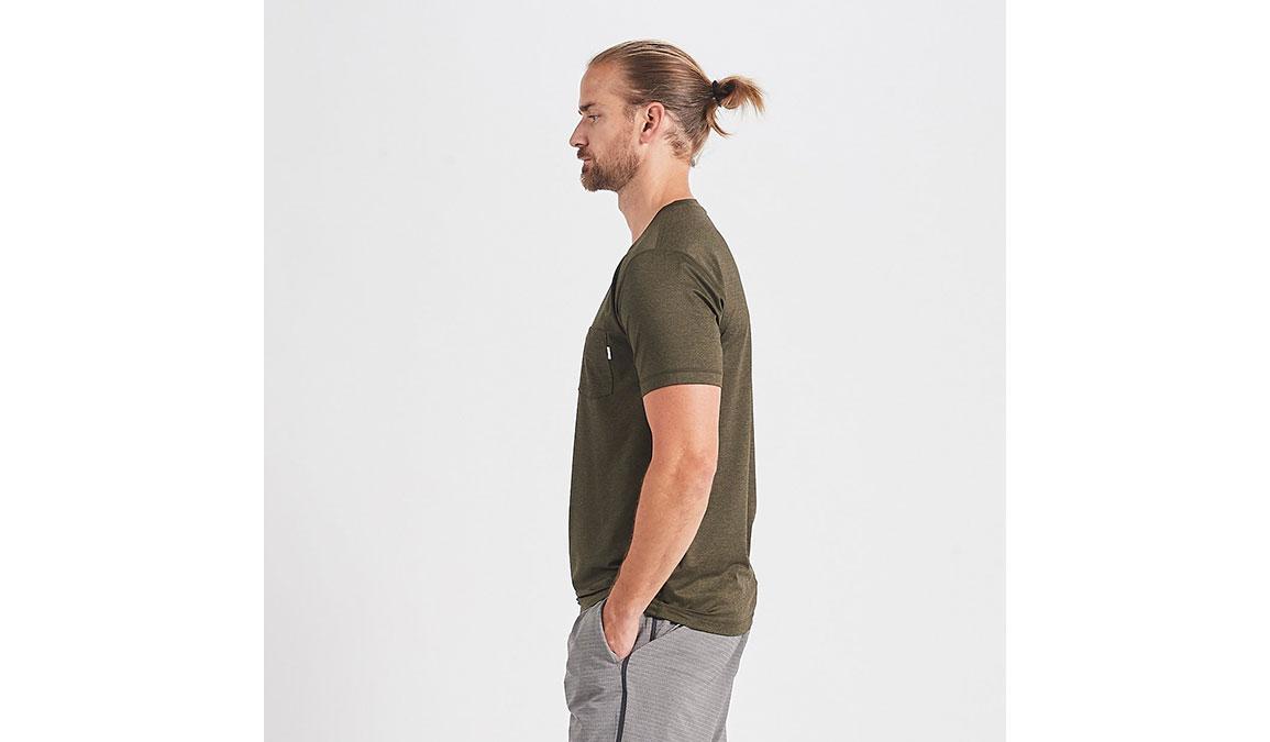 Men's Vuori Tradewind Performance Tee - Color: Evergreen Heather Size: S, Evergreen Heather, large, image 2