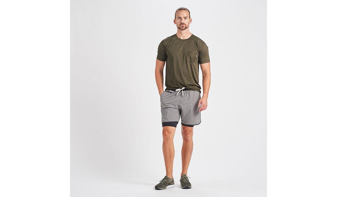 Men's Vuori Tradewind Performance Tee - Color: Evergreen Heather Size: S, Evergreen Heather, large, image 4