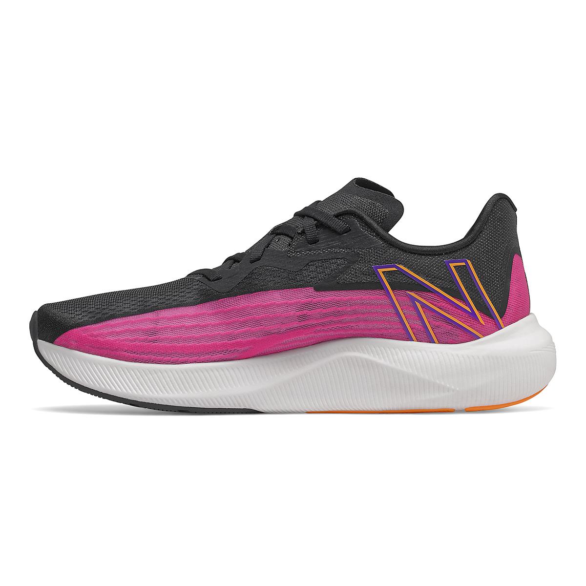 Men's New Balance Fuelcell Rebel V2 Running Shoe - Color: Pink Glo/Black - Size: 6 - Width: Wide, Pink Glo/Black, large, image 3