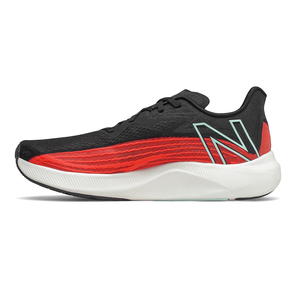 Men's New Balance Fuelcell Rebel V2 Running Shoe - Color: Ghost Pepper/White/Black - Size: 7 - Width: Wide, Ghost Pepper/White/Black, large, image 2