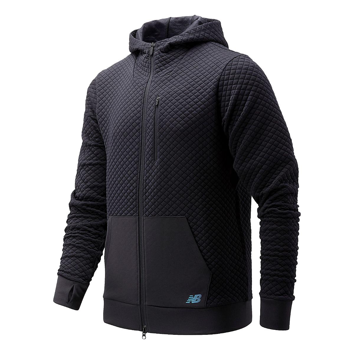 Men's New Balance Heatloft Full Zip - Color: Black - Size: S, Black, large, image 1