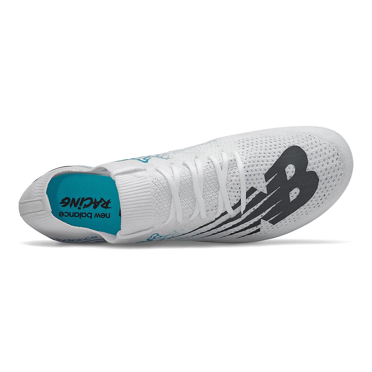 Men's New Balance LD5Kv8 Track Spikes - Color: White/Virtual Sky - Size: 8 - Width: Regular, White/Virtual Sky, large, image 2