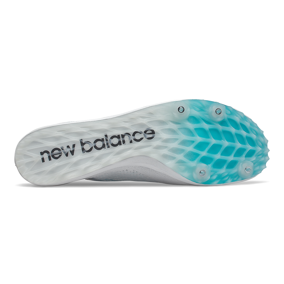 Men's New Balance LD5Kv8 Track Spikes - Color: White/Virtual Sky - Size: 8 - Width: Regular, White/Virtual Sky, large, image 3