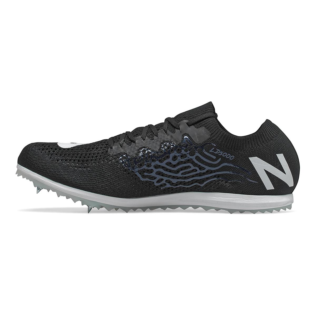 Men's New Balance LD5Kv8 Track Spikes - Color: Black/White - Size: 8 - Width: Regular, Black/White, large, image 2