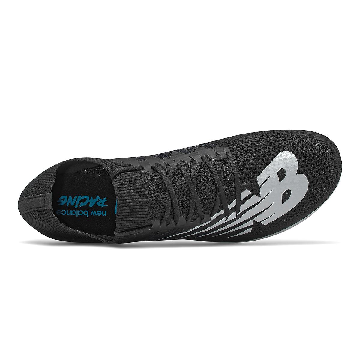 Men's New Balance LD5Kv8 Track Spikes - Color: Black/White - Size: 8 - Width: Regular, Black/White, large, image 3