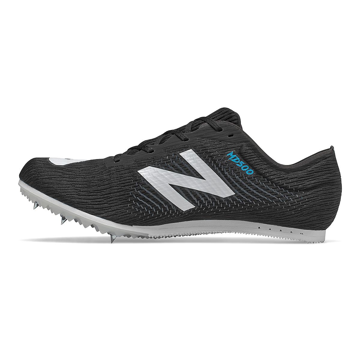 Men's New Balance MD500v7 Track Spikes - Color: Black/White - Size: 6.5 - Width: Regular, Black/White, large, image 2