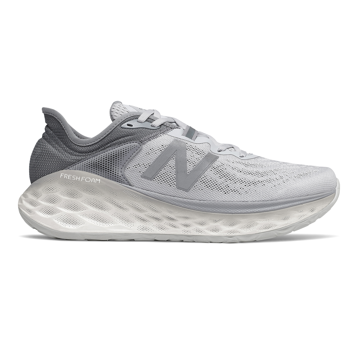 Men's New Balance Fresh Foam More V2 Running Shoe - Color: Light Aluminum - Size: 7 - Width: Wide, Light Aluminum, large, image 1
