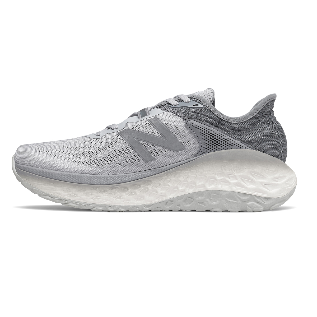 Men's New Balance Fresh Foam More V2 Running Shoe - Color: Light Aluminum - Size: 7 - Width: Wide, Light Aluminum, large, image 2