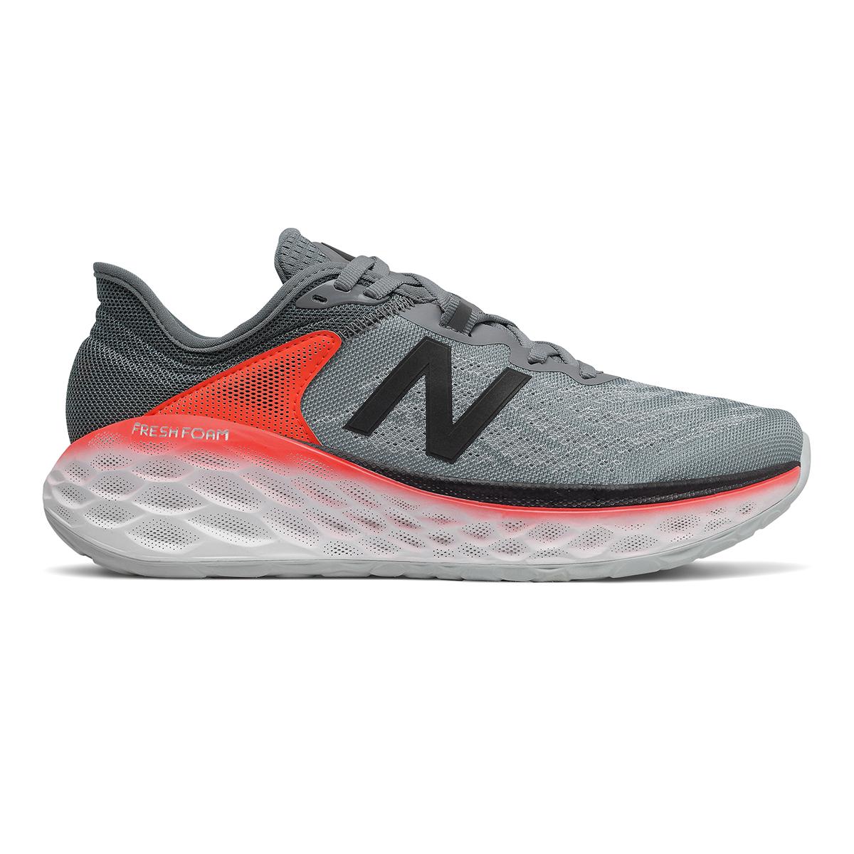 Men's New Balance Fresh Foam More V2 Running Shoe - Color: Gunmetal - Size: 7 - Width: Wide, Gunmetal, large, image 1