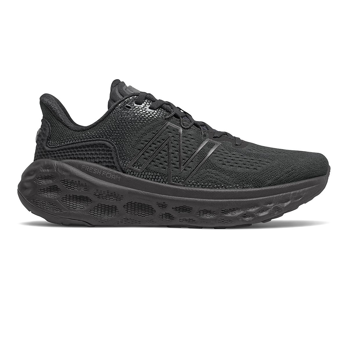 Men's New Balance Fresh Foam More V3 Running Shoe - Color: Black - Size: 7 - Width: Wide, Black, large, image 1