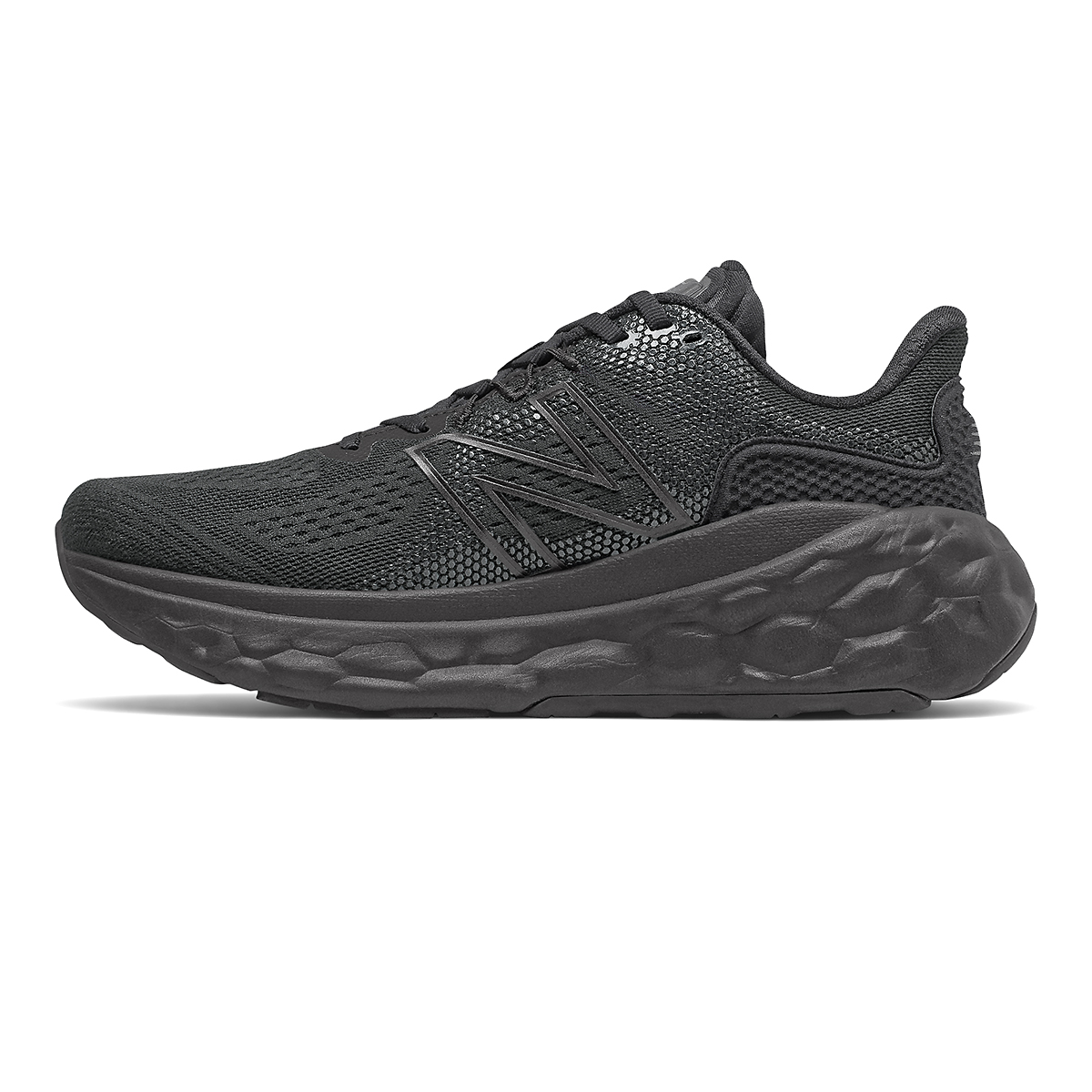 Men's New Balance Fresh Foam More V3 Running Shoe - Color: Black - Size: 7 - Width: Wide, Black, large, image 2
