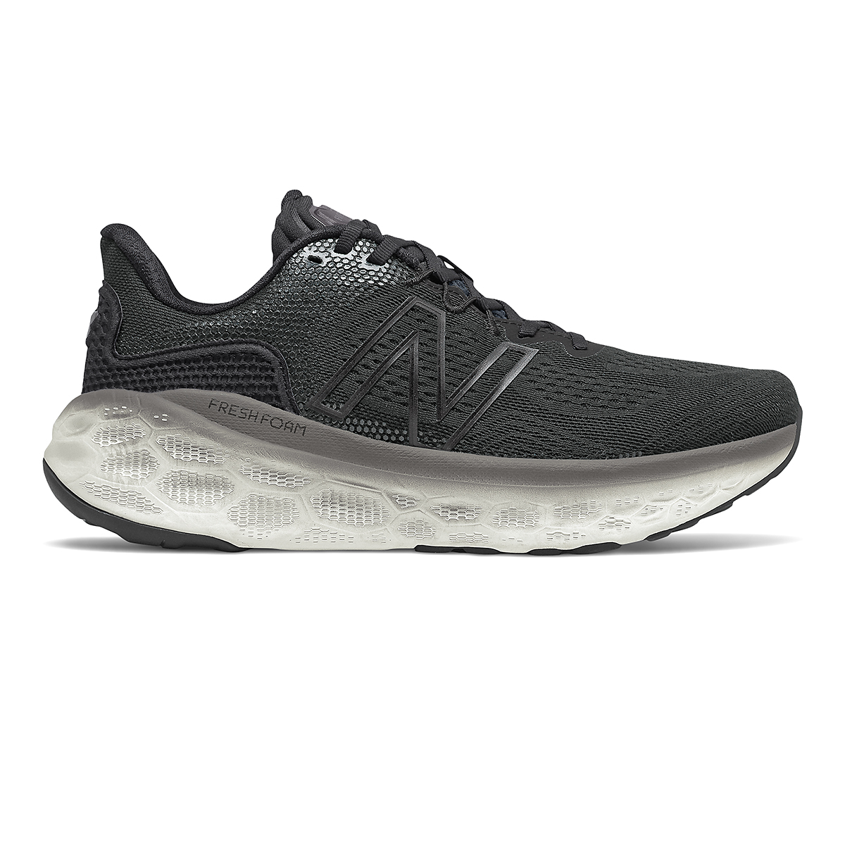 Men's New Balance Fresh Foam More V3 Running Shoe - Color: Black/Magnet - Size: 7 - Width: Wide, Black/Magnet, large, image 1
