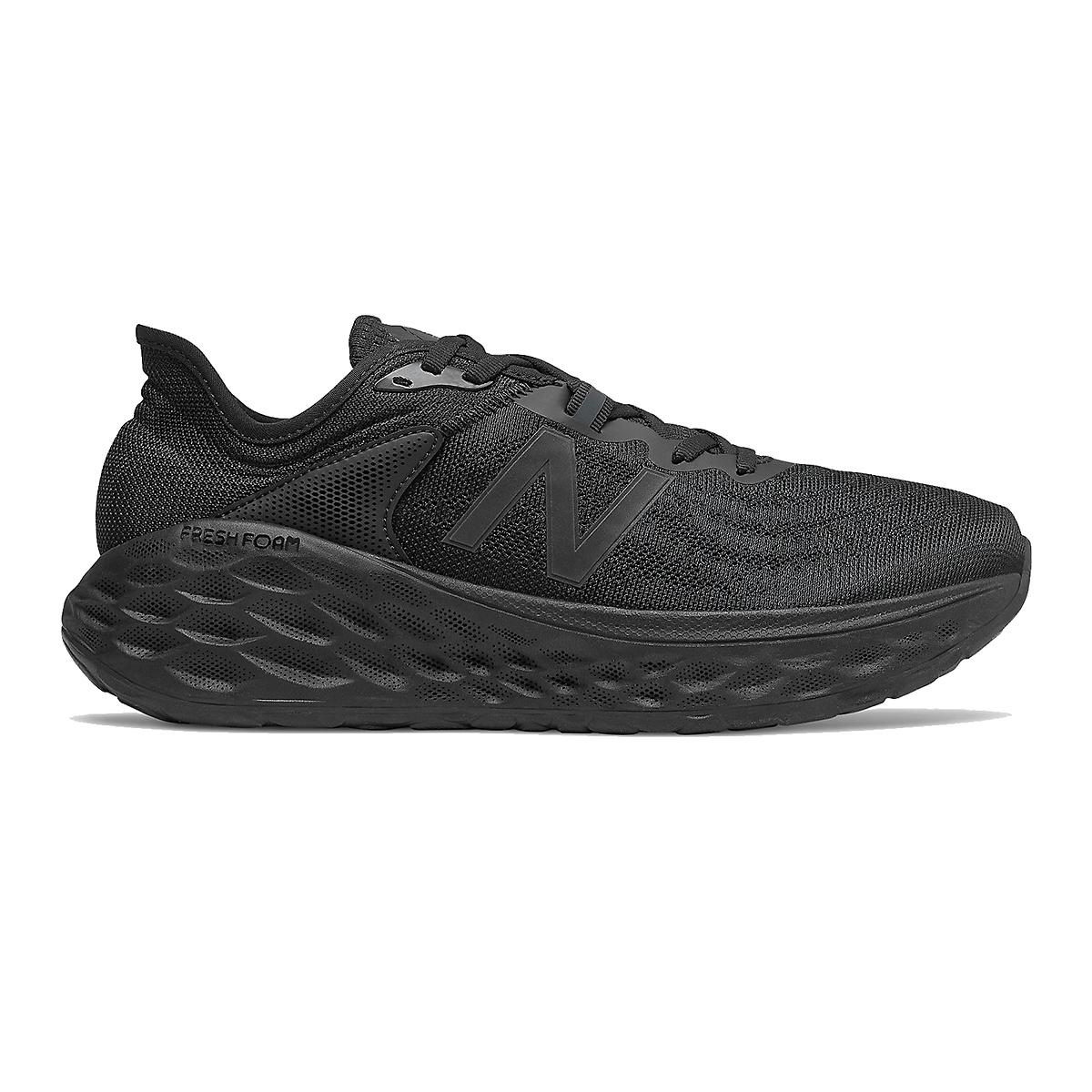 Men's New Balance Fresh Foam More V2 Running Shoe - Color: Black (Wide Width) - Size: 7, Black, large, image 1