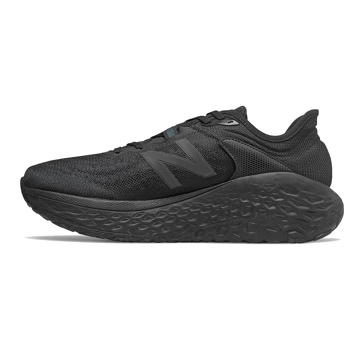 Men's New Balance Fresh Foam More V2 Running Shoe - Color: Black (Wide Width) - Size: 7, Black, large, image 2