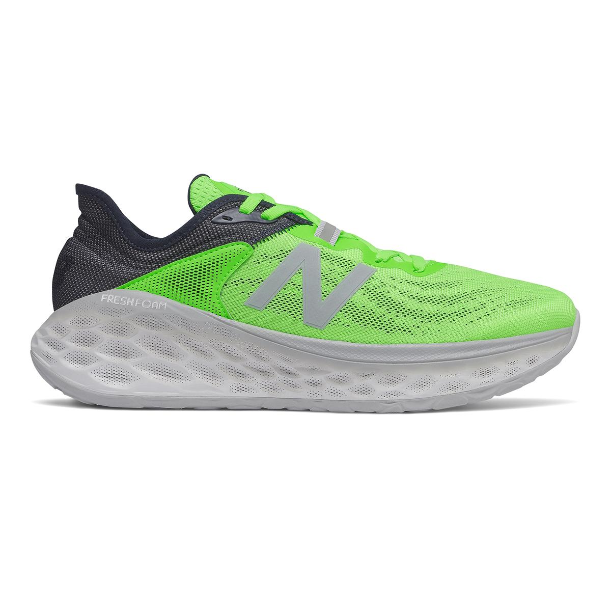 Men's New Balance Fresh Foam More V2 Running Shoe - Color: Energy Lime - Size: 7 - Width: Wide, Energy Lime, large, image 1