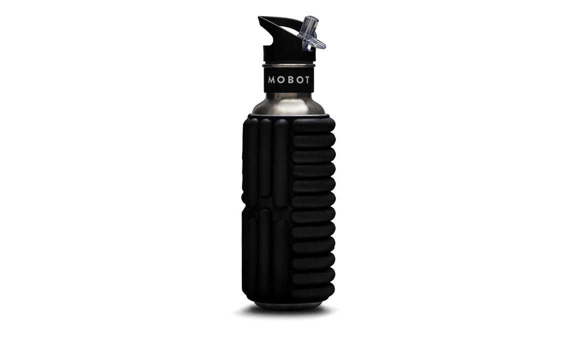 MOBOT Grace Foam Roller Water Bottle - Color: Licorice  Size: 27oz, Licorice, large, image 1