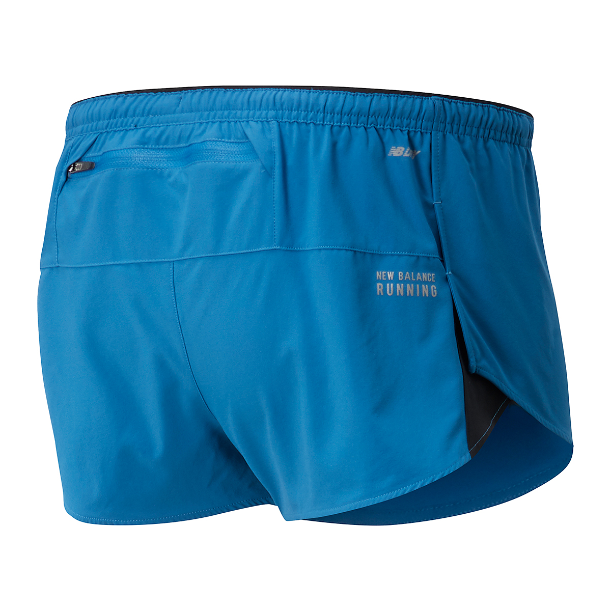 Men's New Balance Impact Run 3In Split Short  - Color: Mako Blue - Size: S, Mako Blue, large, image 2