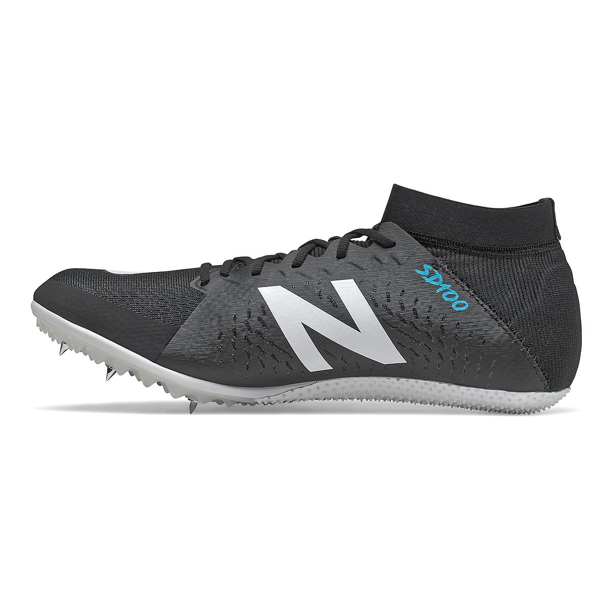 Men's New Balance SD100v3 Track Spikes - Color: Black/White - Size: 4.5 - Width: Regular, Black/White, large, image 2