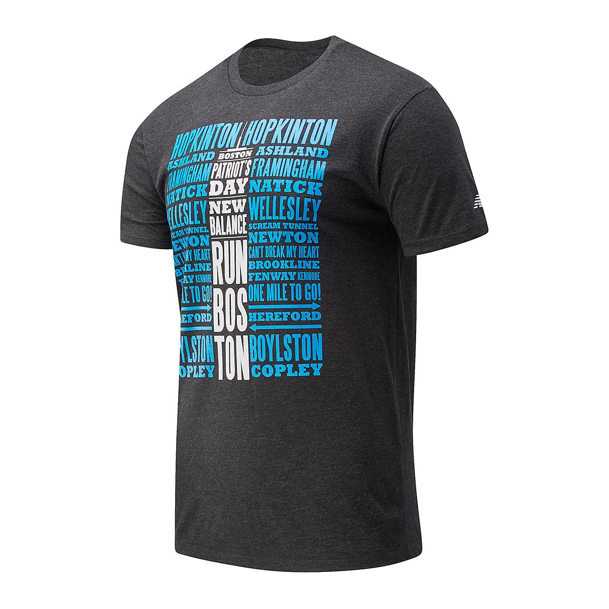 Men's New Balance Boston Graphic Short Sleeve Shirt - Color: Black - Size: S, Black, large, image 1
