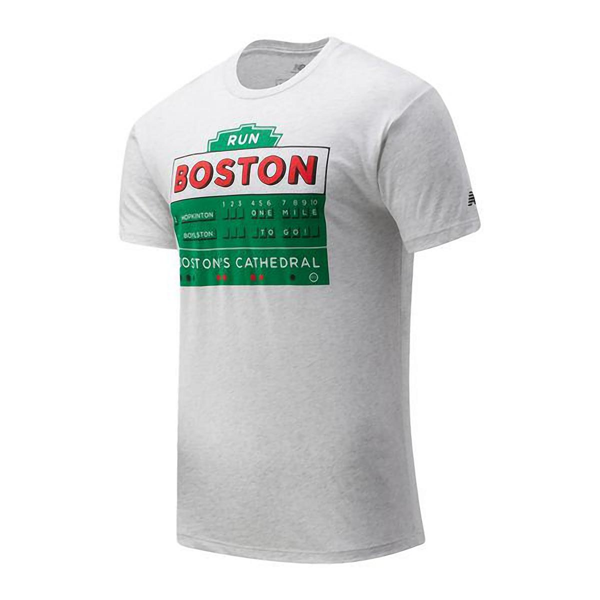 Men's New Balance Boston Graphic Short Sleeve Shirt - Color: White - Size: S, White, large, image 1