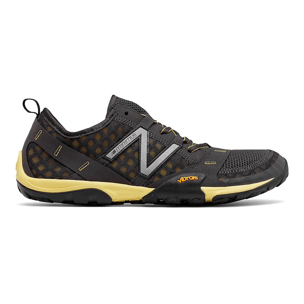Men's New Balance Minimus T10V1 Trail Running Shoe - Color: Grey/Yellow - Size: 5 - Width: Wide, Grey/Yellow, large, image 1