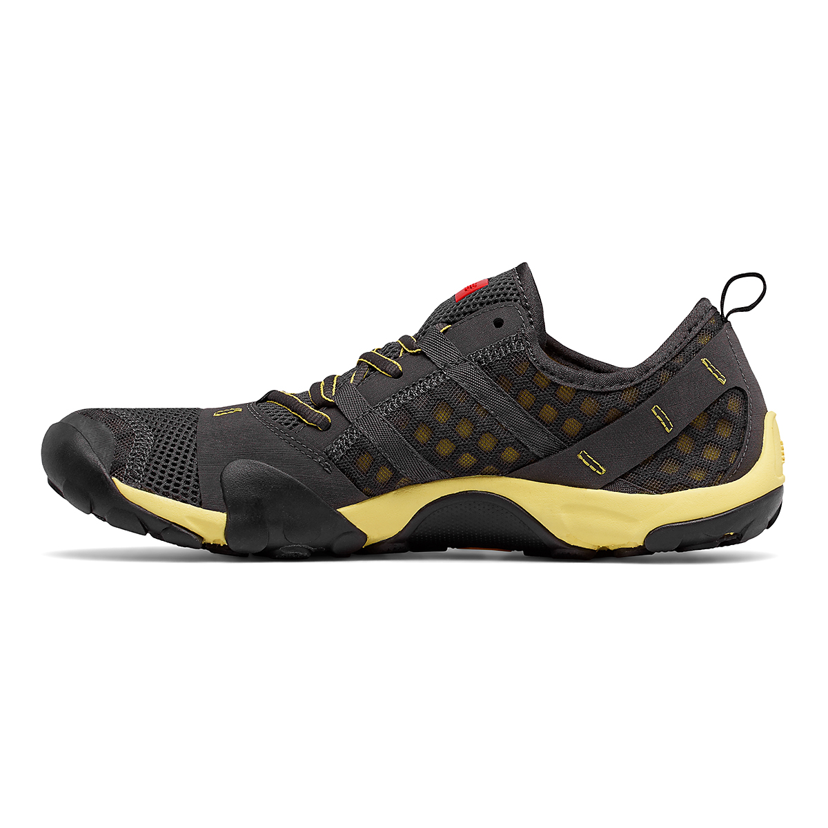 Men's New Balance Minimus T10V1 Trail Running Shoe - Color: Grey/Yellow - Size: 5 - Width: Wide, Grey/Yellow, large, image 2